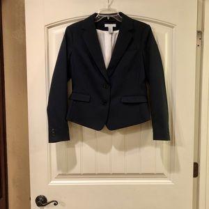 EUC H&M Navy Lined Stretch Blazer Size 10